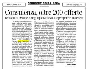 20141007 Articolo Corriere della Sera